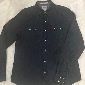 Men's Levi's woven denim shirt